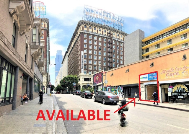 DTLA small retail space for lease Los Angeles